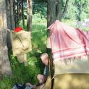 Утро на рыбалке Хорошо одному  в 3х местной палатке!